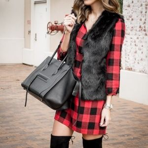 Madewell Signal tunic dress buffalo check plaid S